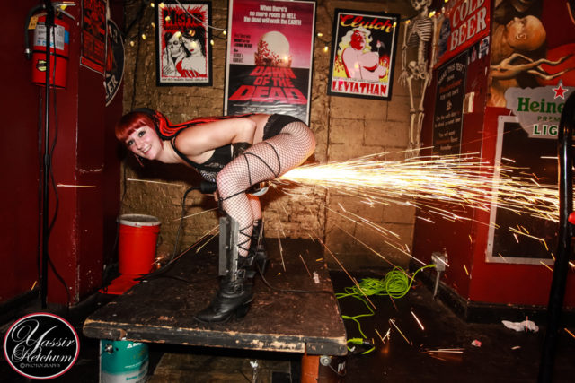 Angle-Grinder-Girl-Act-Shooting-Sparks-Crotch-Sideshow-Performer-Show-Boston-Worcester-Massachusetts-Fire-Gypsy-1