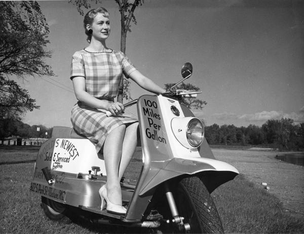 Above: Bo Diddley with a Cushman RoadKing