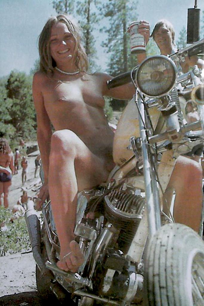 girl nude on a motorcycle