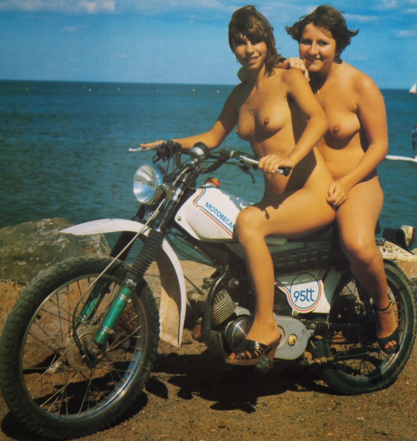from Devin nude retro biker babe