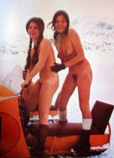 Girls nude on snowmobile 10