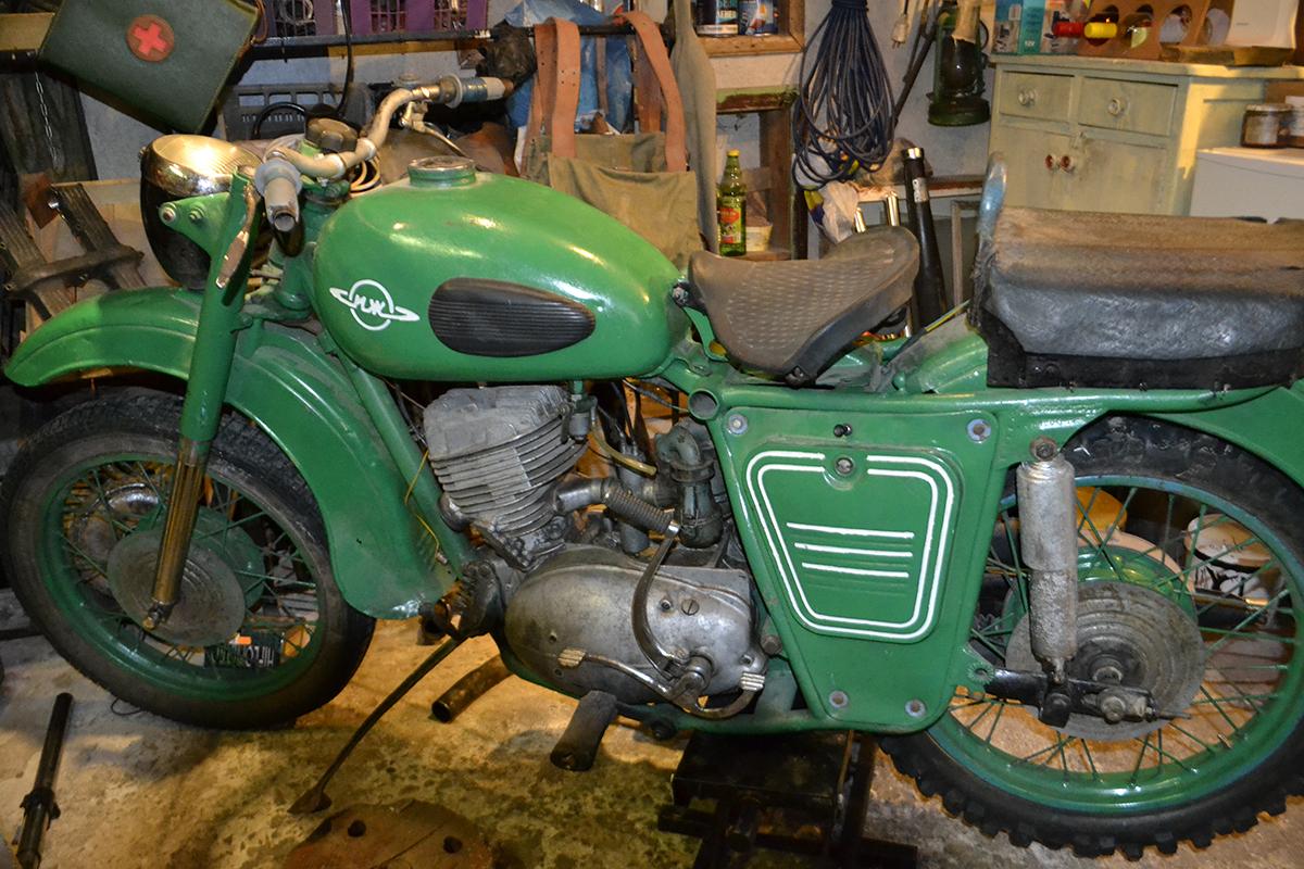 Restoration motorcycle IZH Jupiter-5 75