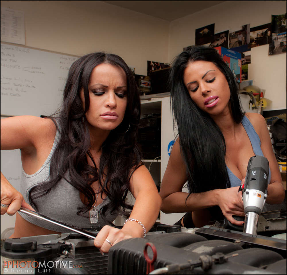 nude women with power tools